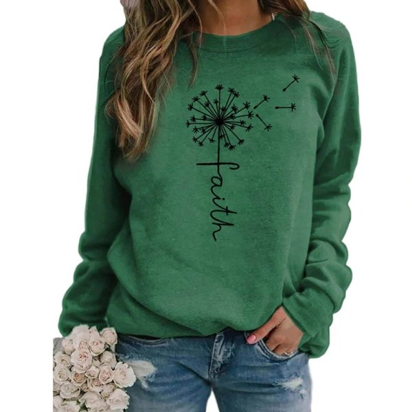 Stars Print Sweatshirts Women Long Sleeve Top Autumn New O-neck Sweatshirt Casual Female Loose Hoodies Datura Letter Pullover 6