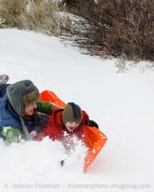 Sierra sledding