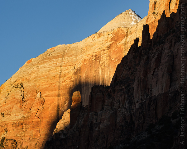 Sunrise on the Streaked Wall, Zion National Park, Utah