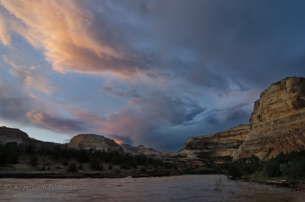 Sunset over Harding Hole, Yampa River
