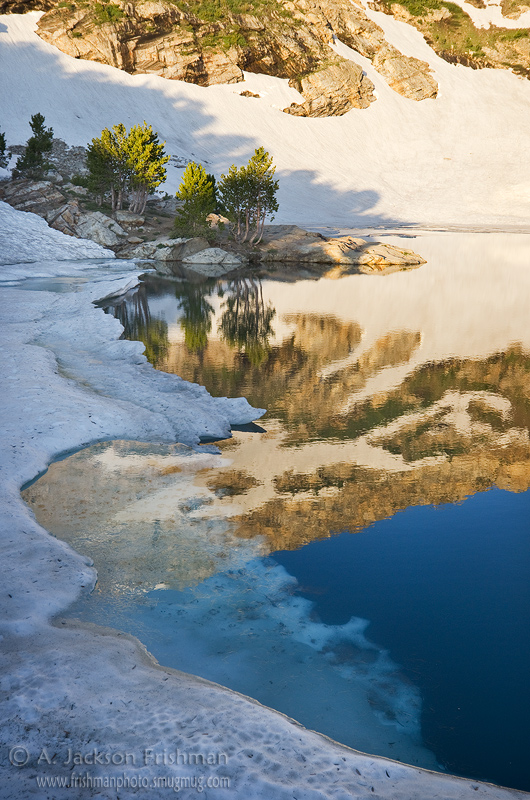 Morning light at Lamoille Lake in Nevada's Ruby Mountains