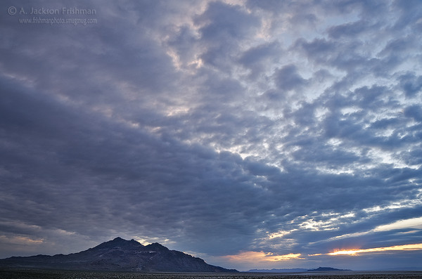 Cloudy sunrise over the Silver Island Range