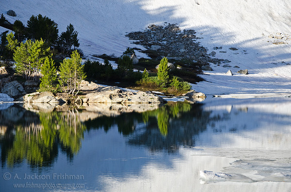 Winter lingers late at Lamoille Lake in Nevada's Ruby Mountains