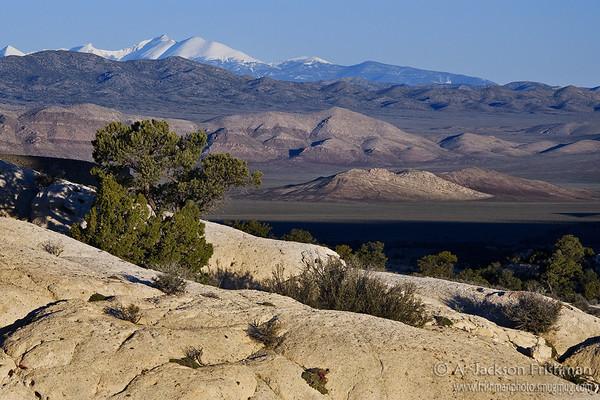 Morning view from Utah's Wah Wah Mountains to Nevada's Snake Range