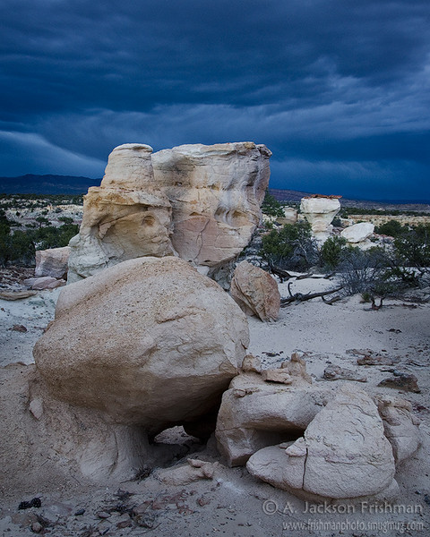 Nightime storm in Ojito Wilderness