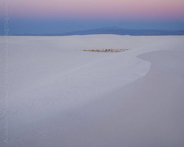 Sunset over White Sands and Sierra Blanca, New Mexico