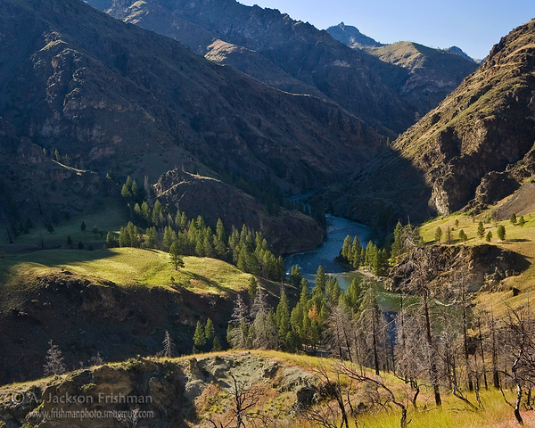 The Middle Fork of the Salmon flowing through Idaho's Frank Church-River of No Return Wilderness
