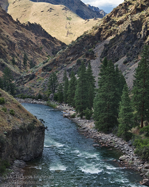 The Middle Fork canyon at Driftwood camp, Frank Church-River of No Return Wilderness, Idaho