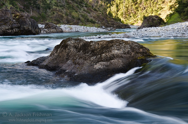 Stone and flowing water, Kalmiopsis Wilderness, Oregon