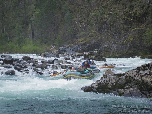 York Creek Rapid in the rain