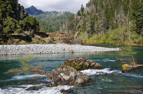 Klondike Creek meets the Illinois River in Oregon's Kalmiopsis Wilderness