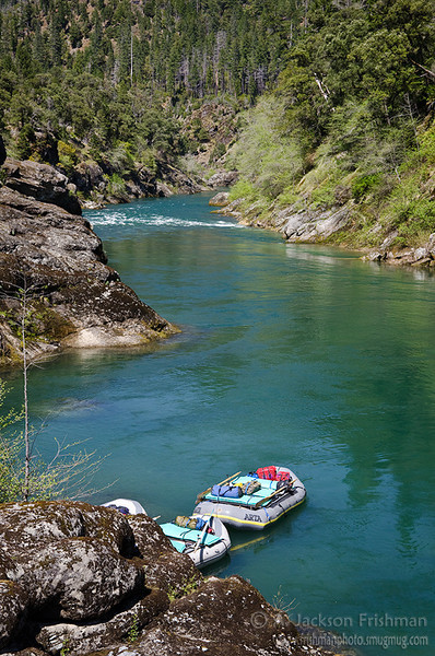 A peaceful stretch of the Illinois River in Oregon's Kalmiopsis Wilderness