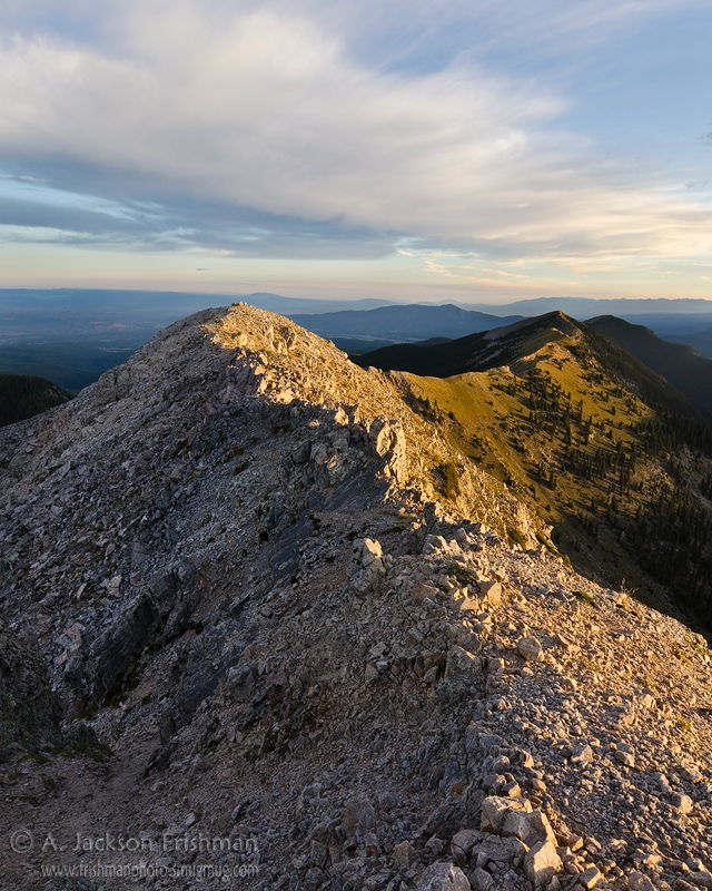 Sunrise on Sheepshead and Jicarilla Peaks, Pecos Wilderness, New Mexico