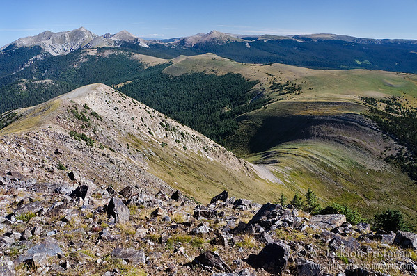 Trailriders' Wall and the Truchas Peaks from East Pecos Baldy, Pecos Wilderness, New Mexico