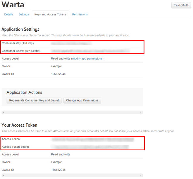 Warta   Twitter Application Management
