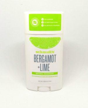schmidt's déodorant bergamot & lime