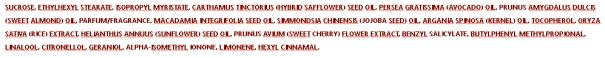 gamme sakura composition scrub