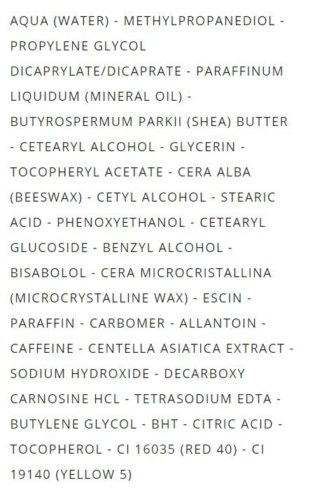 matin radieux liste ingrédient composition