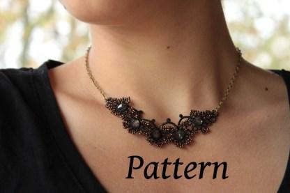 modèle de collier en frivolité