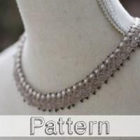 Modèle collier frivolité