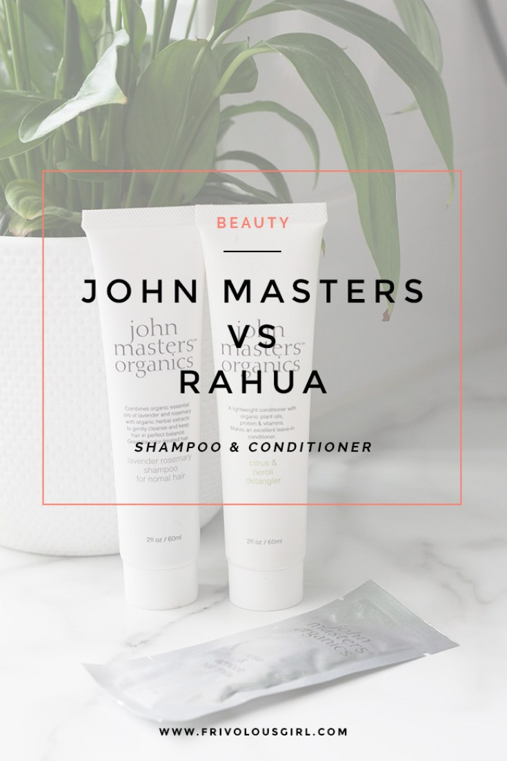 rahua vs john masters shampoo and conditioner