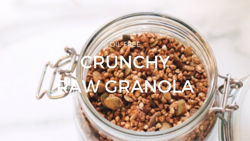 Crunchy Raw Buckwheat Granola (Oil-Free)