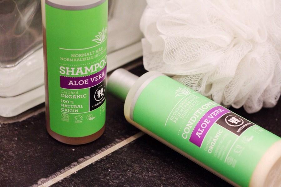 Urtekram Natural shampoo Aloe Vera Rose Normalt Hår Normal hair review