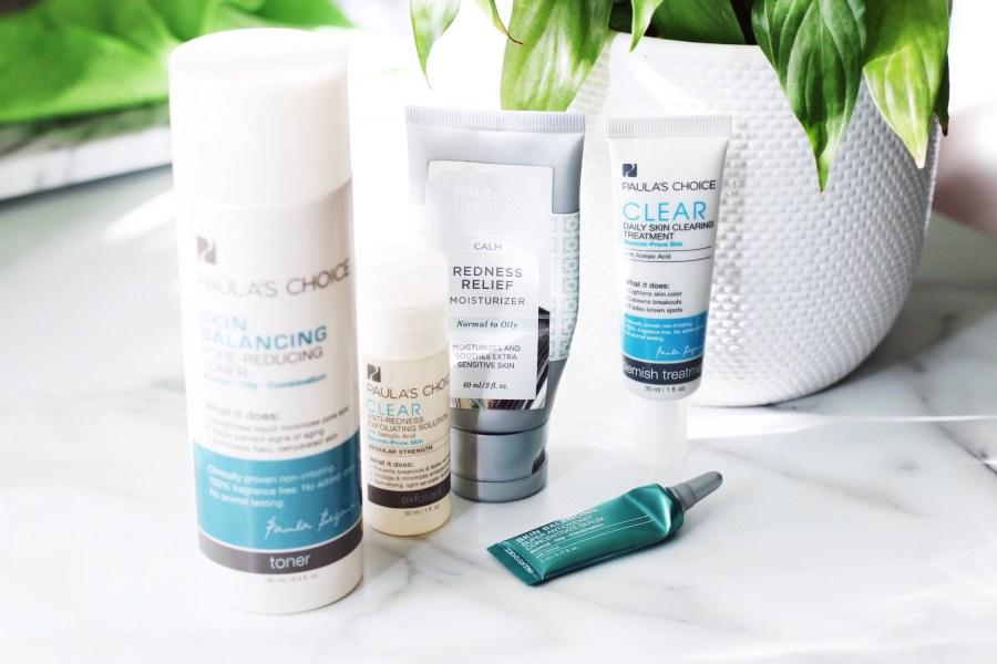 Paula's Choice Products, Skin Balancing Toner, BHA Regular Strength, Calm REdness Moisturizer, Azelaic Acid, Skin Balancing Serum