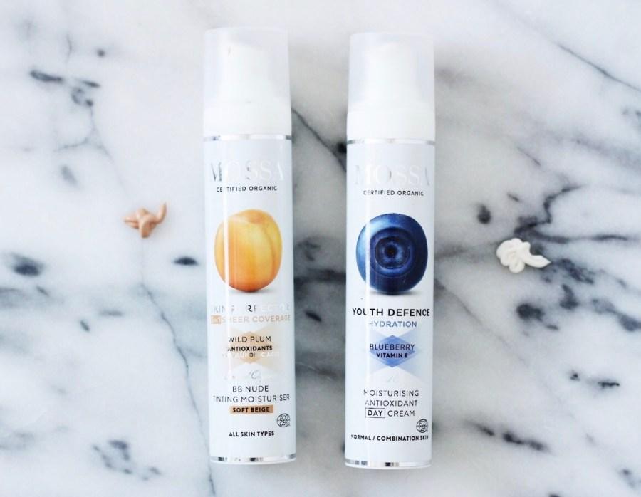 MOSSA Cosmetics Moisturising Antioxidant Day Cream and Skin perfector BB Tinting Moisturiser
