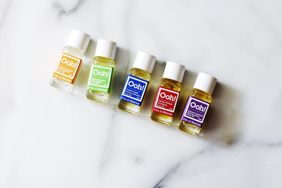 Ooh! Oils of Heaven Mini Sample Set Argan Oil, Rosehip Oil, Baobab Oil, Moringa Oil and Cacay Oil