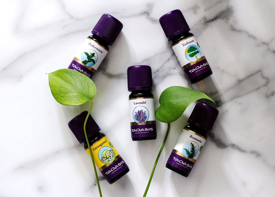 Aromatherapy with Taoasis Peppermint, Citrus Garden, Lavender, Tea Tree and Rosmary