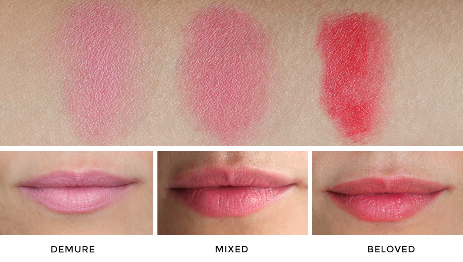 rms beauty lip2cheek demure beloved swatch