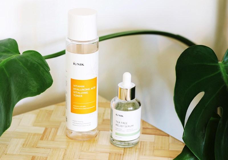 iUnik Tea Tree Relief Serum and Hyaluronic Acid Vitalizing Toner