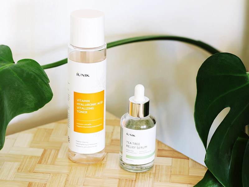 iUnik | Tea Tree Relief Serum & Hyaluronic Acid Vitalizing Toner
