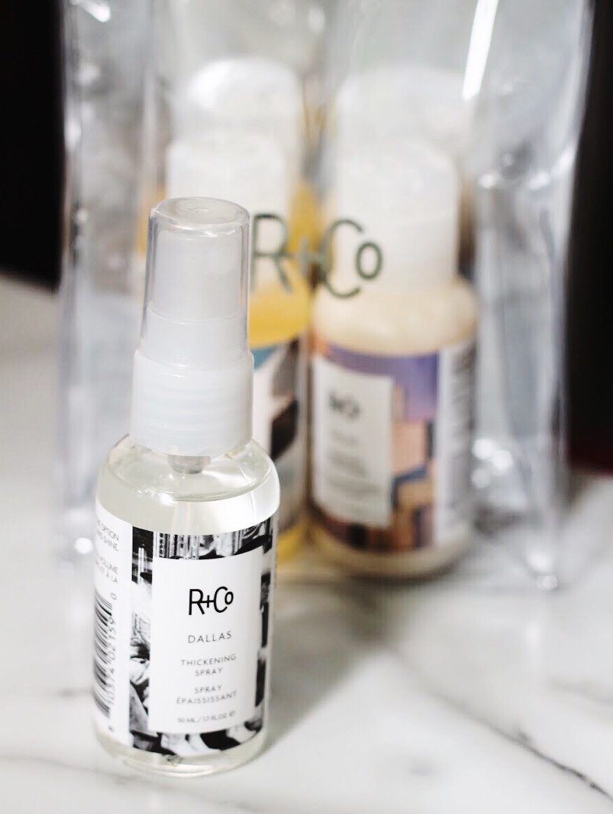 R+Co Dallas Thickening Spray and Shampoo and Condtioner Duo