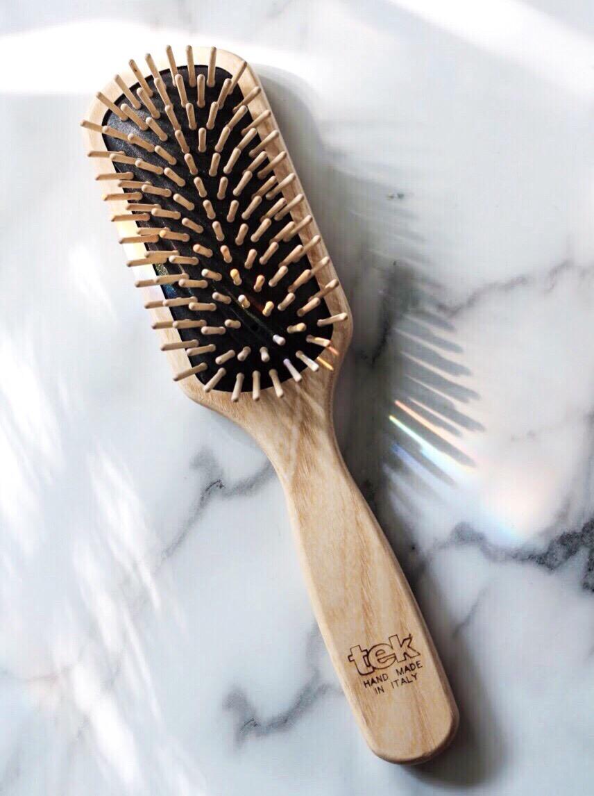 TEK wooden hairbrush