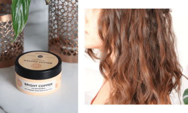 Maria Nila Color Refresh Bright Copper on Medium-Dark Brown Hair