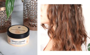 Maria Nila Color Refresh Bright Copper on Medium-Dark Brown Hair