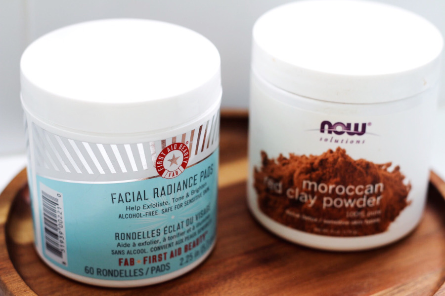 FAB Radiance Pads review, NOW Moroccan Red Clay Powder iHerb review