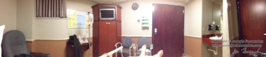 My room the night before surgery.
