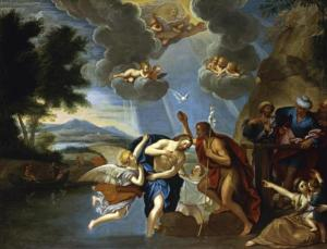 The Baptism of Christ by the Circle of Francesco Albani