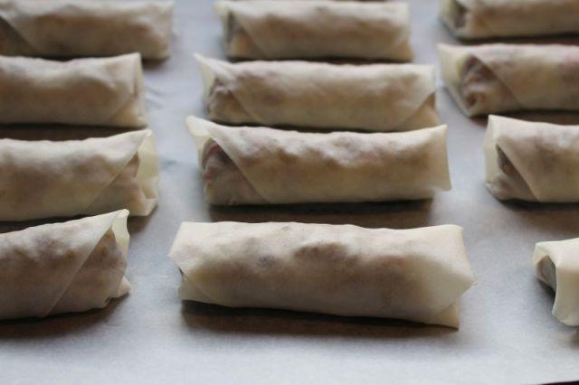 foraarsruller, spring-roll-pastry, ovn
