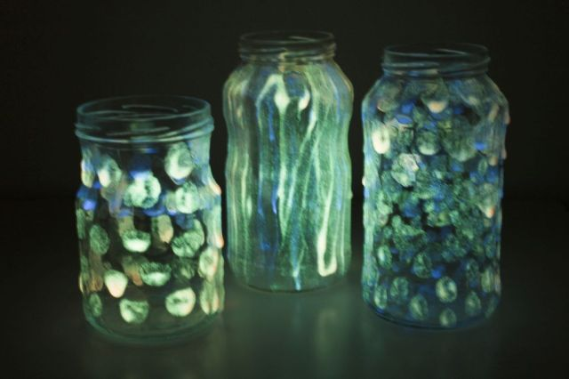 selvlysende-glas, glow-in.the-dark-paint, diy, boern