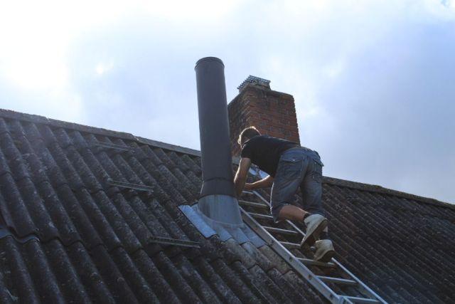skorsten, tag, handyman