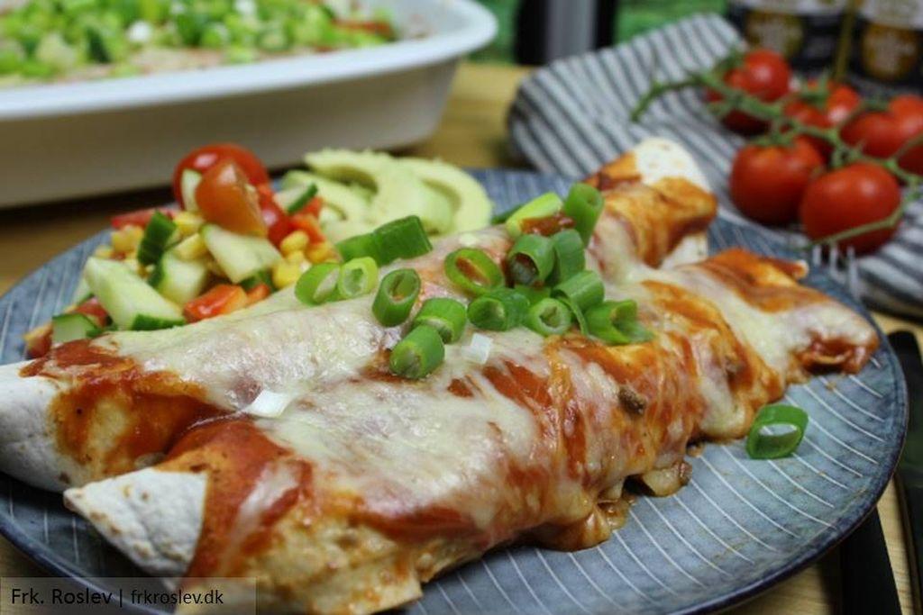 Enchiladas med oksekød