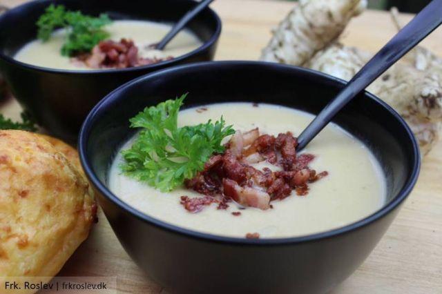 jordskokkesuppe, suppe, simremad, jordskokke-suppe, opskrift