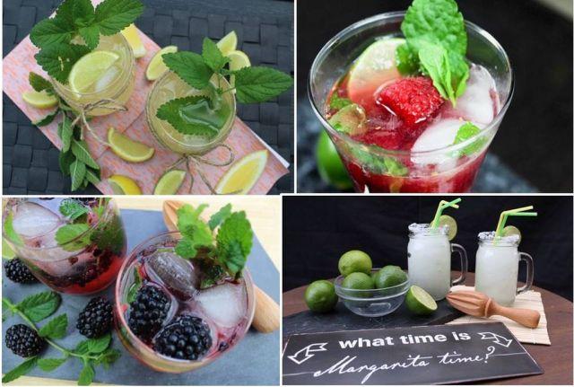 cocktails, dark-n.stormy, frozen-margarita, brombaer-gin-tonic, hindbaer-mojito, nytaarsaften, nytaarscocktails, drinks, cocktailhour