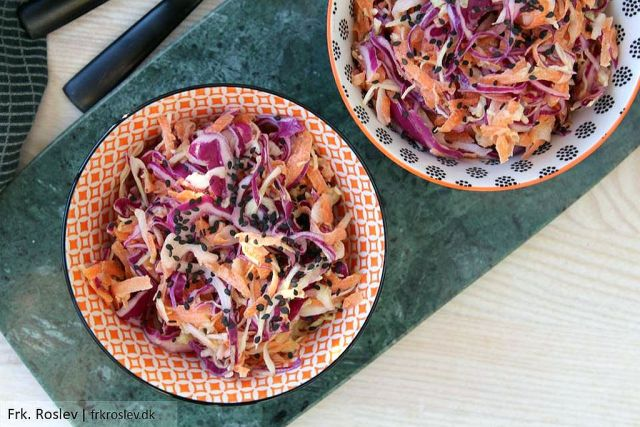 coleslaw, spidskål, gulerødder, salat