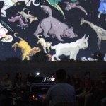 Spectacle du ciel étoilé sous le Cosmorium - planétarium gonflable itinérant