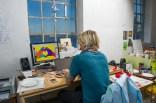 Digital work in the studio